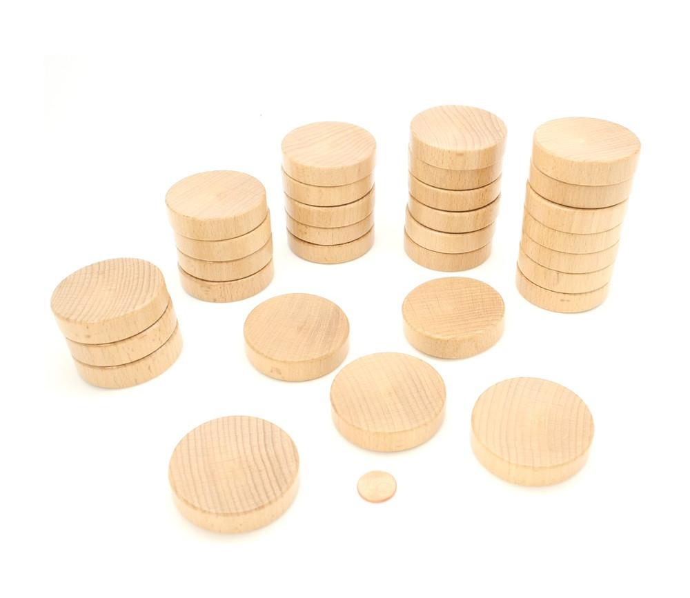 30 palets en bois brut incurvé pour billard hollandais