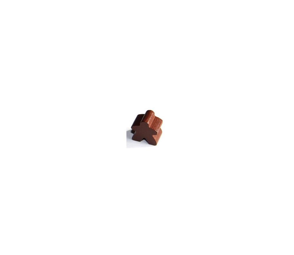 Pion meeple original personnage marron en bois type carcassone