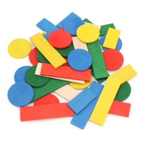 Jetons de jeux en bois lot de 50 pour tarot, nain jaune, mise