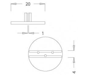 10 socles ronds 20 mm support M2 pour pions ou cartes de jeu