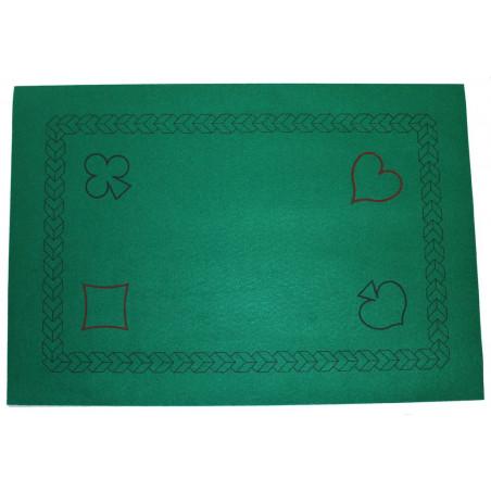Tapis de cartes Belote 40 x 60 cm vert