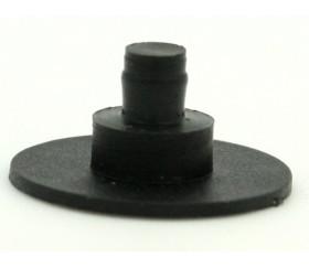 Flèche 100 mm noire (10 cm) pour créer un jeu avec une roue