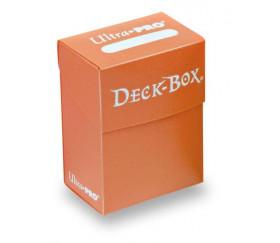 Deck box orange- Boite cartes de jeux - plastique 9.5 x 7 x 4.5 cm