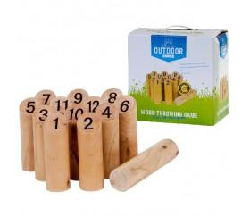 Jeu quilles finlandaises en bois numérotées 1 à 12