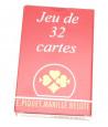 JEU 32 CARTES FRANÇAISES classique belote Gauloises