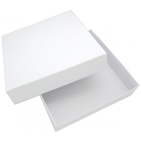 Boite jeu carré PM blanche à personnaliser petit format