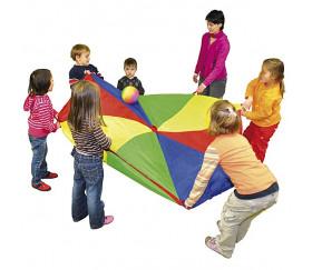 Parachute 300 cm - jeu coordination coopératif 3 mètres