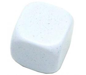 Dé 22 mm moucheté plastique neutre à personnaliser