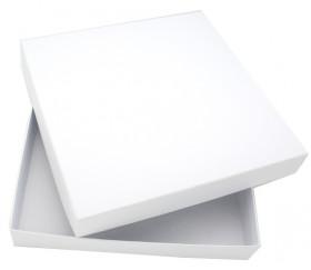 Boite de jeu société blanche à personnaliser carré