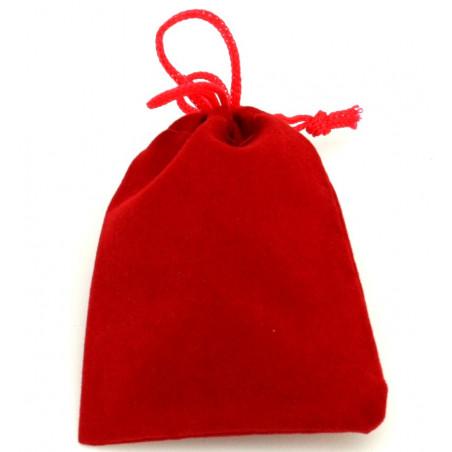 Petit Sac velours 90 x 70 mm rouge pour pions de jeux