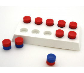 Bande de comptage rang de 5 socle 1 à 10 avec pions