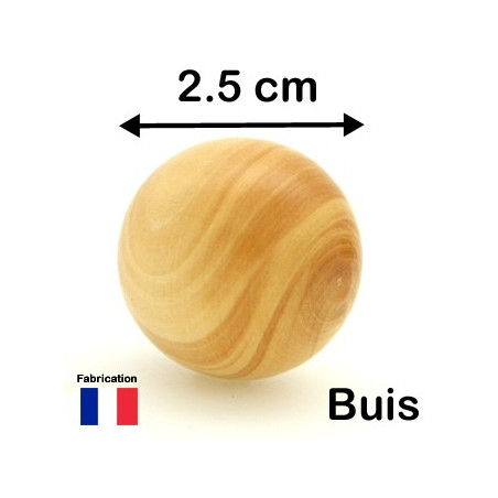 Boule en bois de 12 mm diamètre bille
