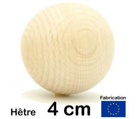 Boule en bois de 40 mm diamètre bille