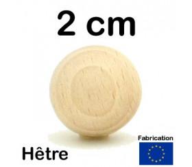 Boule 2 cm en bois 20 mm hêtre