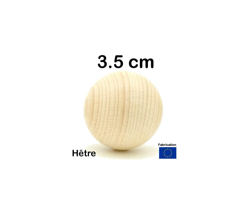 Boule bois 35 mm diamètre bille hêtre