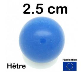 Boule 25 mm bleue bois hêtre