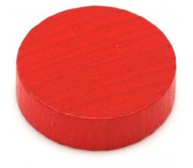 Pion palet 4 cm en bois pour jeu 40 x 10 mm rouge