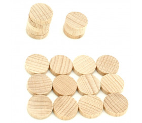 Mini jetons naturel bois 10 x 4 mm lot 20 pour jeux