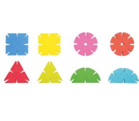 Jeu assemblage - 120 formes géométriques en bois