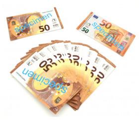 Set 100 billets de 50 euros factices pour jeux