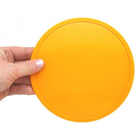 Palet 15 cm jaune orange 150 x 8 mm à l'unité plastique