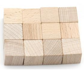 Cubes naturel en bois 2 cm. 20 x 20 x 20 mm vente unité