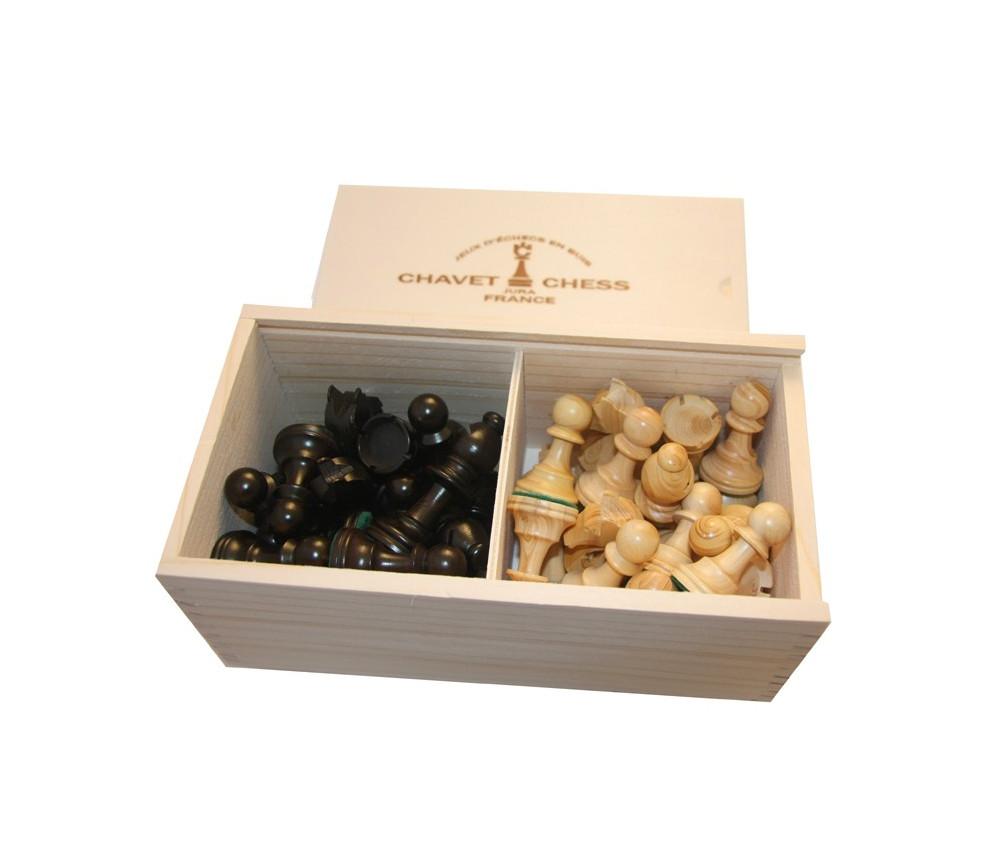 32 Pièces échecs bois feutrine coffret bois taille 5 luxe FABRICATION FRANCAISE BUIS