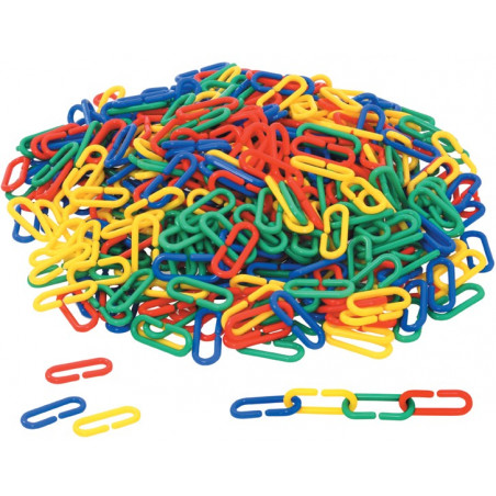 500 mini liens plastiques colorés 4 x 1.7 cm