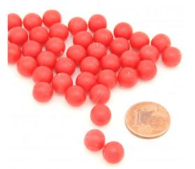 100 billes rouges de 7.5 mm de diamètre.
