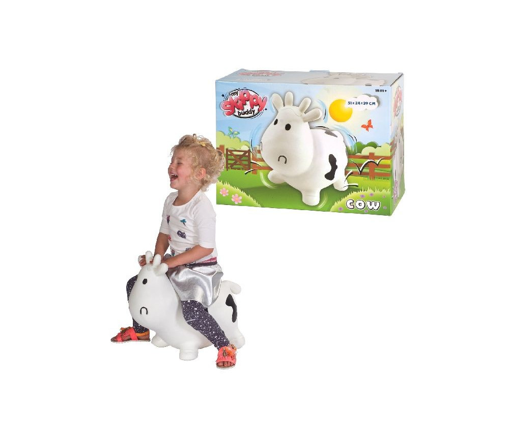 Vache - jouet sauteur enfant 51 x 39 x 24 cm