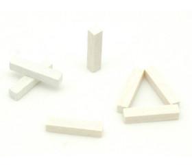 Baguette allumette blanc 5x5x25 mm pion buchette route en bois pour jeu