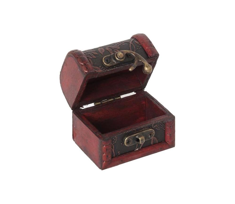 Mini coffre au tr sor pour ranger vos d s de jeux ou for Au petit four a bois
