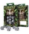 7 dés multifaces Esprit de la forêt - Forest blanc et noir