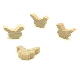 Pion poule naturel en bois 30 x 19 x 8 mm