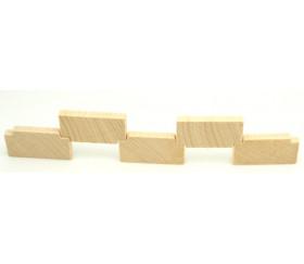 Barrière rectangle en bois 35x18x5 mm pour jeu