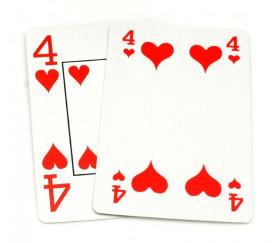 Cartes à jouer Senior grands chiffres