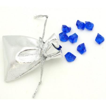 Mini sac tissu argenté 5.5 x 7 cm