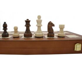 Jeu d'échecs magnétiques 40 cm en bois complet plateau pliable+ 32 pièces