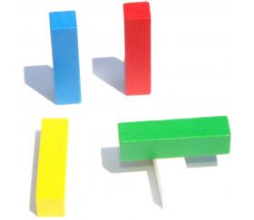 Bâtonnet buchette 10x10x40 mm en bois pour jeu