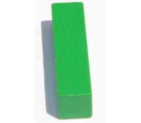 Bâtonnet buchette vert 10x10x40 mm en bois pour jeu