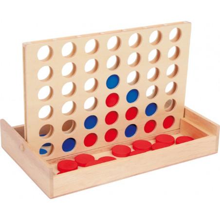 Jeu 4 en ligne en bois jeu traditionnel