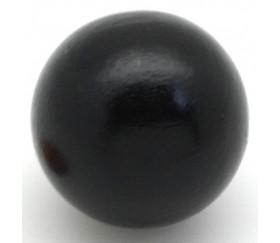 Boule bois couleur noire 40 mm diamètre bille 4 cm