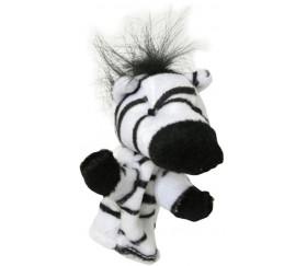 8 mini marionnettes animaux pour doigt zebre