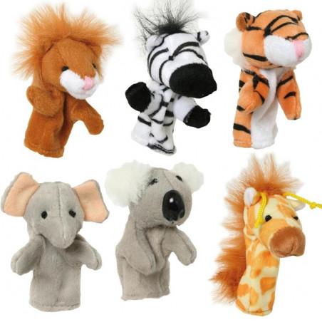 8 mini marionnettes animaux pour doigt