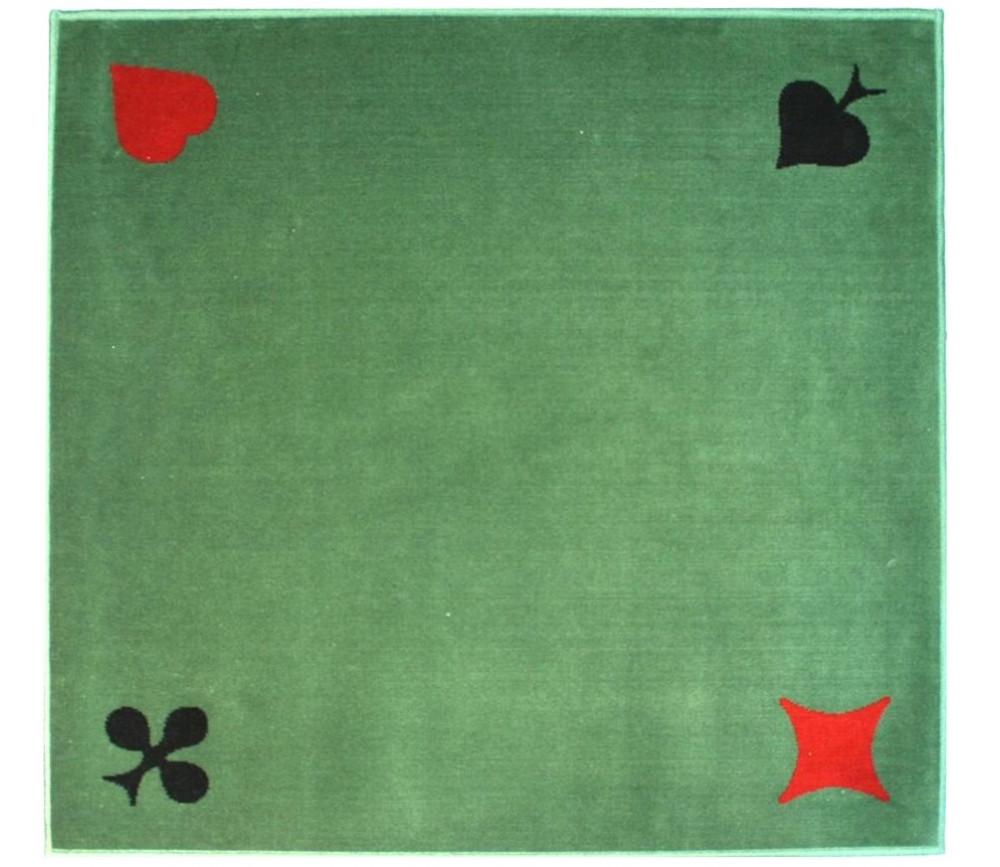Tapis cartes Tissé 77 x 77 cm vert marque France Cartes 4 AS