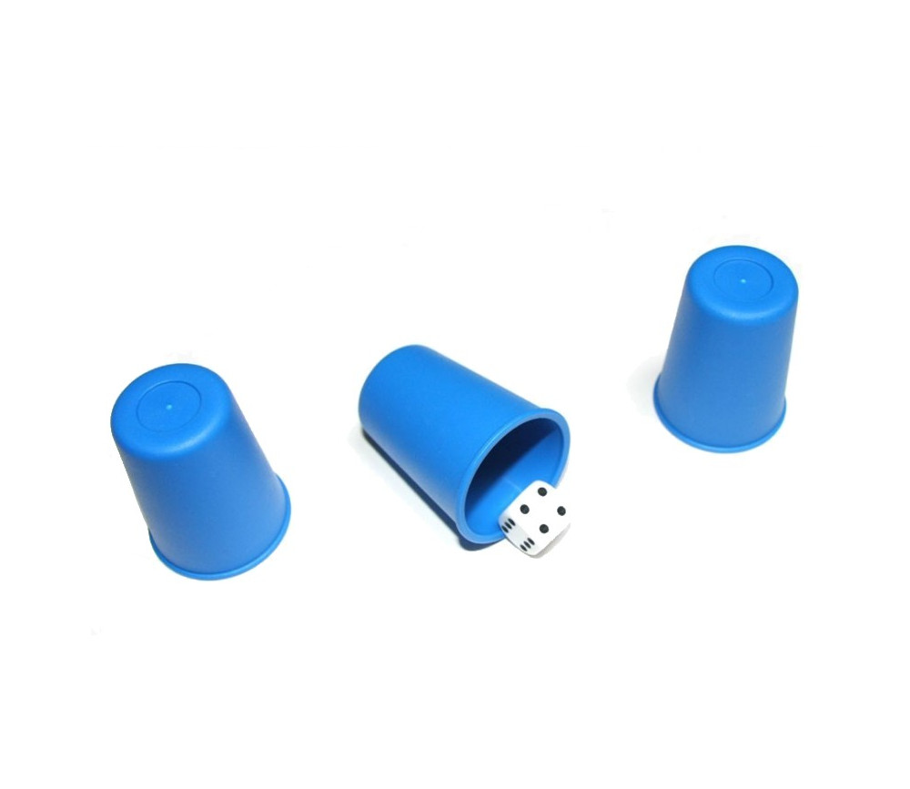 Mini Gobelet plastique couleur pour lancer de dés