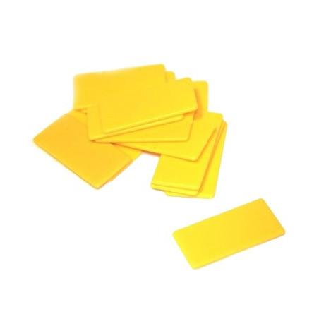 Jeton rectangle plastique 40 x 20 mm