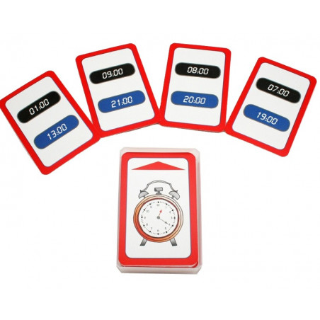 48 cartes exercices heures et minutes