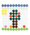 Quadrillage avec 100 pions boutons