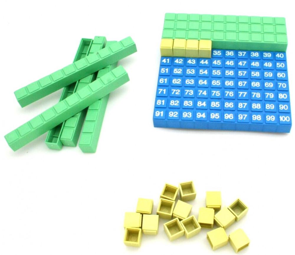 Set Base 10 - plaque centaine encastrable avec dizaines et unités